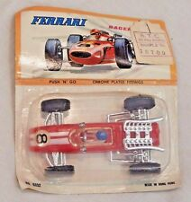 Vintage 1960s Ferrari Racer Push N Go Toy Car - New & Unopened in Package