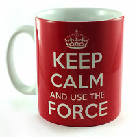 KEEP CALM AND USE THE FORCE STAR WARS CARRY ON COOL BRITANNIA RETRO GIFT MUG CUP