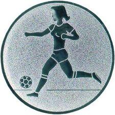 24 Embleme D:50mm Fußball Damen (Medaillen Pokale Pokal Emblem Turnier Jugend)