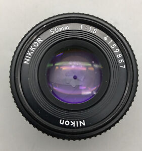 Nikon Nikkor 50mm 1:1.8 Camera Lens Pancake Lens - Fast Shipping - H05
