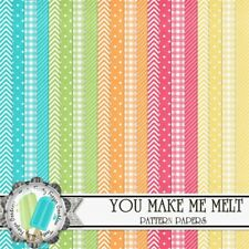 YOU MAKE ME MELT - BASIC PATTERNS SCRAPBOOK PAPER - 20 x A4 pages