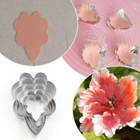 5X/Set Rose Petal Mold Mould for Cake Decor Fondant Sugarcraft Cutter Tool Mold.