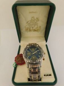 HOLLYWOOD 8000 POLO QUARTZ TITANIUM WATCH ORIGINAL BOX
