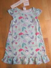 Girl GYMBOREE MULTICOLOR BIRDS AQUA PAJAMAS PJS NIGHT GOWN SLEEPWEAR NWT XS 4