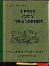 Rare! 1969 LEEDS CITY TRANSPORT Trams BUSES Trolley Buses 75 pages EC+