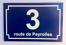 NUMERO DE MAISON personnalisé + nom rue BIS TER ... 1 à 5 chiffres,