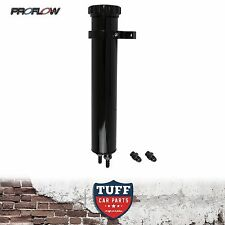 "Proflow 13"" Black Billet Alloy Radiator Coolant Overflow Recovery Expansion Tank"