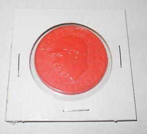 1960 Armour Baseball Coin Token Pin Mickey Mantle New York Yankees Orange Color