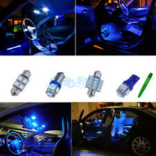 7X Bulb Car LED Interior Lights Package kit For 2005 Honda Civic Coupe Blue *P