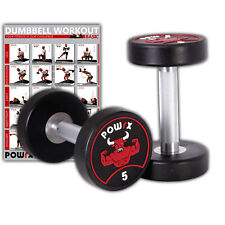 Rundhantel 2er Set inkl. Workout I 5-30 kg I Gummi Kurzhantel geruchsneutral