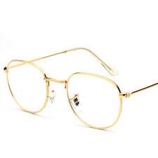Fashion Clear Lens Aviator Gold Glasses Fashion Sunglasses Retro Vintage Style