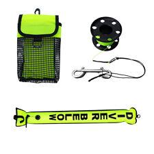 Scuba Diving Sausage Tube & SMB Surface Marker Buoy + Finger Reel + Mesh Bag