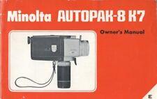 Minolta Autopak-8 K7 Instruction Manual original