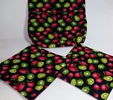 Microwave Baked Potato Bag-Matching Pot Holders 3 Piece Set 100% Cotton-Handmade