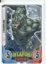 Marvel Hero Attax Series 2 Base Card #190 Horns [Rhino]