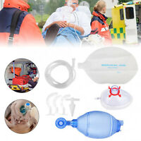 Manual Resuscitator Silicone For Adults Ambu Bag+Oxygen Tube CPR First Aid kit