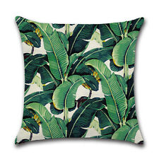 Africa Tropical Plant Printed Cushion Cover Green Leaves Pillow Cases Home Sofa 5#