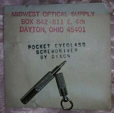 Vintage Pocket Eyeglass Screwdriver Dixon Electronics Co. Original Package
