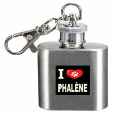 I Love My Dog Engraved Hip Flask 1oz Phalène