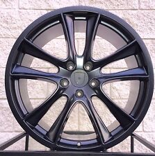 "22"" Porsche Cayenne GTS Style Turbo Wheels Rim Satin Black VW Touareg Q7"