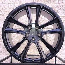 "22"" Porsche Cayenne GTS Style Turbo Wheels Rim Satin Black VW Touareg Q7"