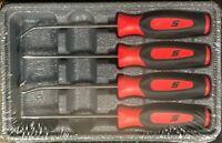 *NEW* Snap-on Pick Set SGASA204CR *RED SOFT HANDLES* PICKS BRAND NEW & SEALED!