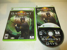 Working Darkest of Days for Microsoft Xbox 360 Rated Mature Complete