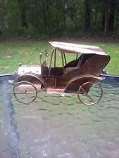Copper Car Music Box Vintage Metal Antique Car Plays Happy Days Are Here Again