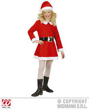 Childrens Santa Girl Fancy Dress Costume Mrs Claus Christmas Outfit 116Cm