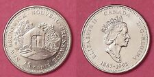 Brilliant Uncirculated 1992 Canada New Brunswick 25 Cents From Mint's Roll