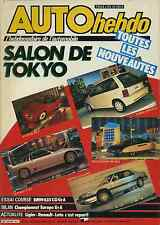 AUTO HEBDO n°497 du 14 Novembre 1985 BMW 635 SCI GrA SALON TOKYO
