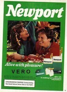 1987 magazine ad NEWPORT cigarettes advertisement couple leaves watch menthol