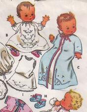 Vintage Baby Dress Bibs Shoes Bonnet Layette SEWING PATTERN Size 6 months COPY