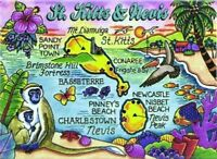 British Virgin Islands Tortola Map Caribbean Fridge Collectors Souvenir Magnet 2.5 X 3.5