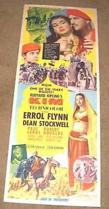 '50 KIM Insert Poster ERROL FLYNN &  DEAN STOCKWELL