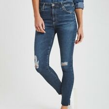 AG Adriano Goldschmied 31 The Farrah SKINNY Ankle High Rise Jeans Raw Hem