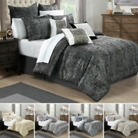 Quilted Bedspread Bed Throw 3 Pcs Luxury Comforter Bedding Set Double King Size