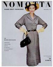 Nomotta #113 c.1953 - 25 Vintage Hand Knitting Fashion Patterns for Women REPRO