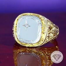 Natürliche Echtschmuck-Ringe im Siegelring-Stil mit Diamant