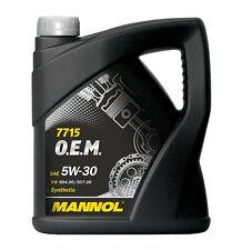 5W-30 Mannol O.E.M. Motoröl Öl synthetisch Motorenöl 5L VW Audi Skoda 5W/30 5W30
