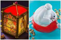 Tokyo Disney Resort Limited Popcorn Bucket Beauty and the Beast & Baymax set
