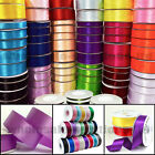 50m Quality Reels Satin Ribbon Roll 50/100 Metre Lengths Width 6,10,15,25 & 38mm