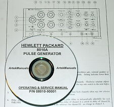 Hewlett Packard Operating & Service Manual for the 8010A Pulse Generator