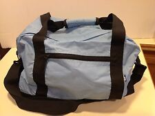 Duffle Gym Bag Weekender Carry on Power Blue Ripstop Nylon 8x15x10 Adjustable