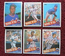 1985 Topps New York Mets Baseball Team Set (30 Cards) ~ Dwight Gooden RC
