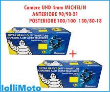 Coppia di Camera d'aria Ant+Post MICHELIN UHD 4mm 90/90-21 e 120/90-18 OFF ROAD