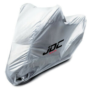 JDC Waterproof Motorcycle Cover Motorbike Breathable Vented Silver UV RAIN - XL
