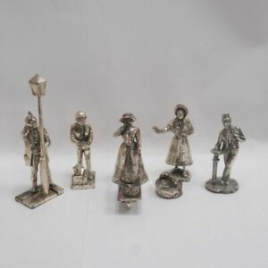 Dickens Silver Plated Figurines Pewter Oliver Twist Royal Hampshire Lots 2 4 6