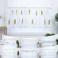 Kitchen Window Curtains Coffee Net Curtains Tiers Drape Blinds for Living Room