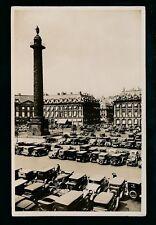 France PARIS Place Vendome Cars car park c1920/30s? RP PPC